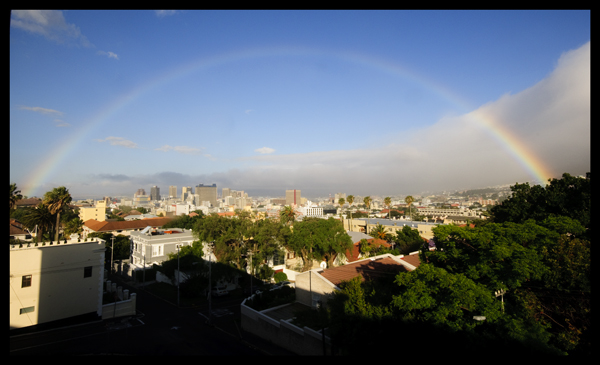 Rainbow over Cape Town